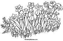 Kleurplaten Bloemen Tulpen.Bloemen Downloads Jufsanne Com