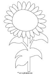 Kleurplaten Zonnebloemen.De Tulp Kleurplaat Einfache Schoene Tulpe Ausmalbild Malvorlage