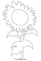 Kleurplaten Zonnebloem.Bloemen Downloads Jufsanne Com