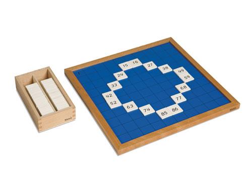 bord 100 Montessori honderbord   JufSanne.com bord 100
