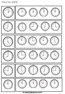 Tijd En Klokken Downloads Jufsanne Com