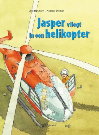 Jasper vliegt in een helikopter Boek omslag
