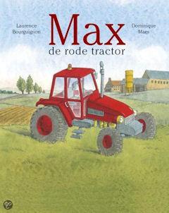Max de rode tractor Boek omslag