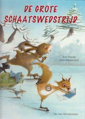 Grote schaatswedstrijd, de Boek omslag