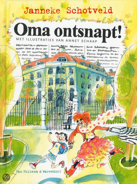 Oma ontsnapt Boek omslag