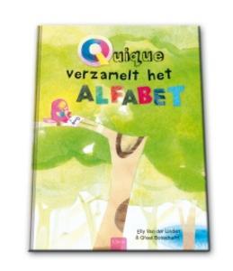 Quique verzamelt het alfabet Boek omslag