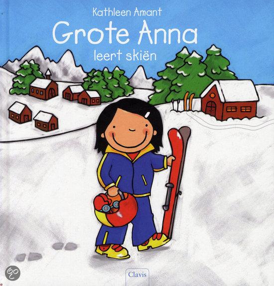 Grote Anna leert skiën Boek omslag