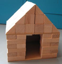 Bouwen knutselen for Kleine huizen bouwen