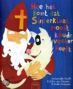 Hoe komt het dat Sinterklaas nooit koude voeten heeft? Boek omslag