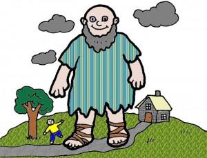 Voorkeur Spelles de reus en de kabouter - JufSanne.com &OO57