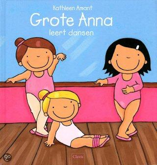 Grote Anna leert dansen Boek omslag