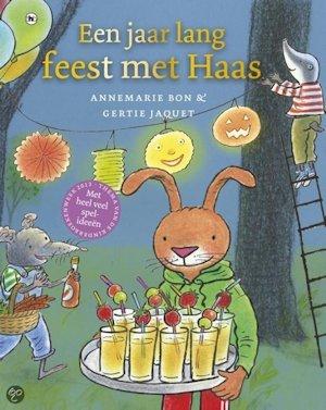Jaar lang feest met Haas, een Boek omslag