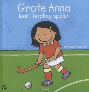Grote Anna leert hockey spelen Boek omslag