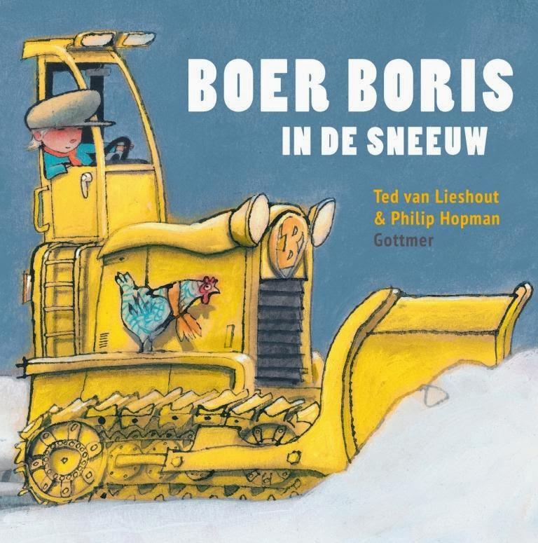 Boer Boris in de sneeuw Boek omslag
