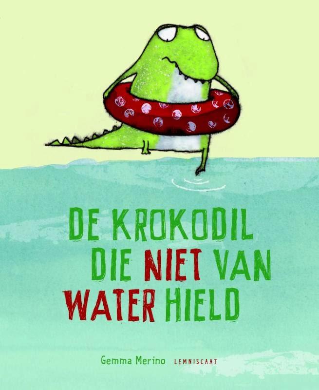 Krokodil die niet van water hield, de Boek omslag