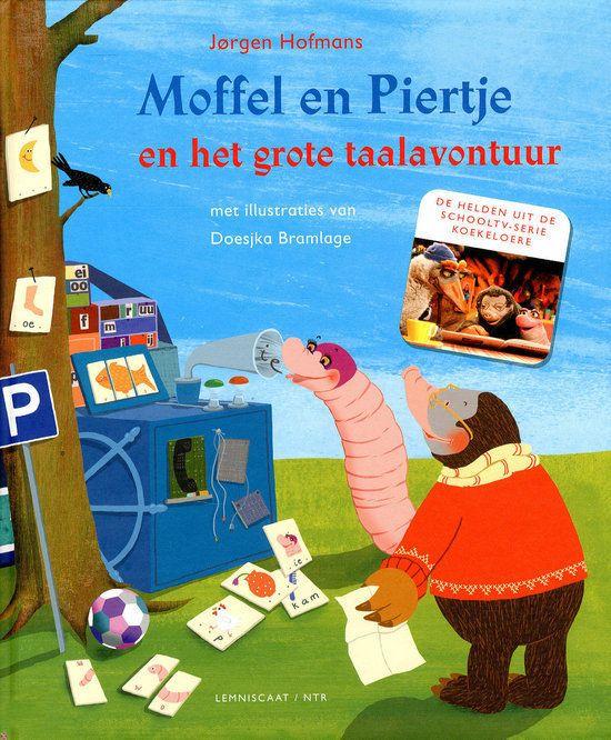 Moffel en Piertje en het grote taalavontuur Boek omslag