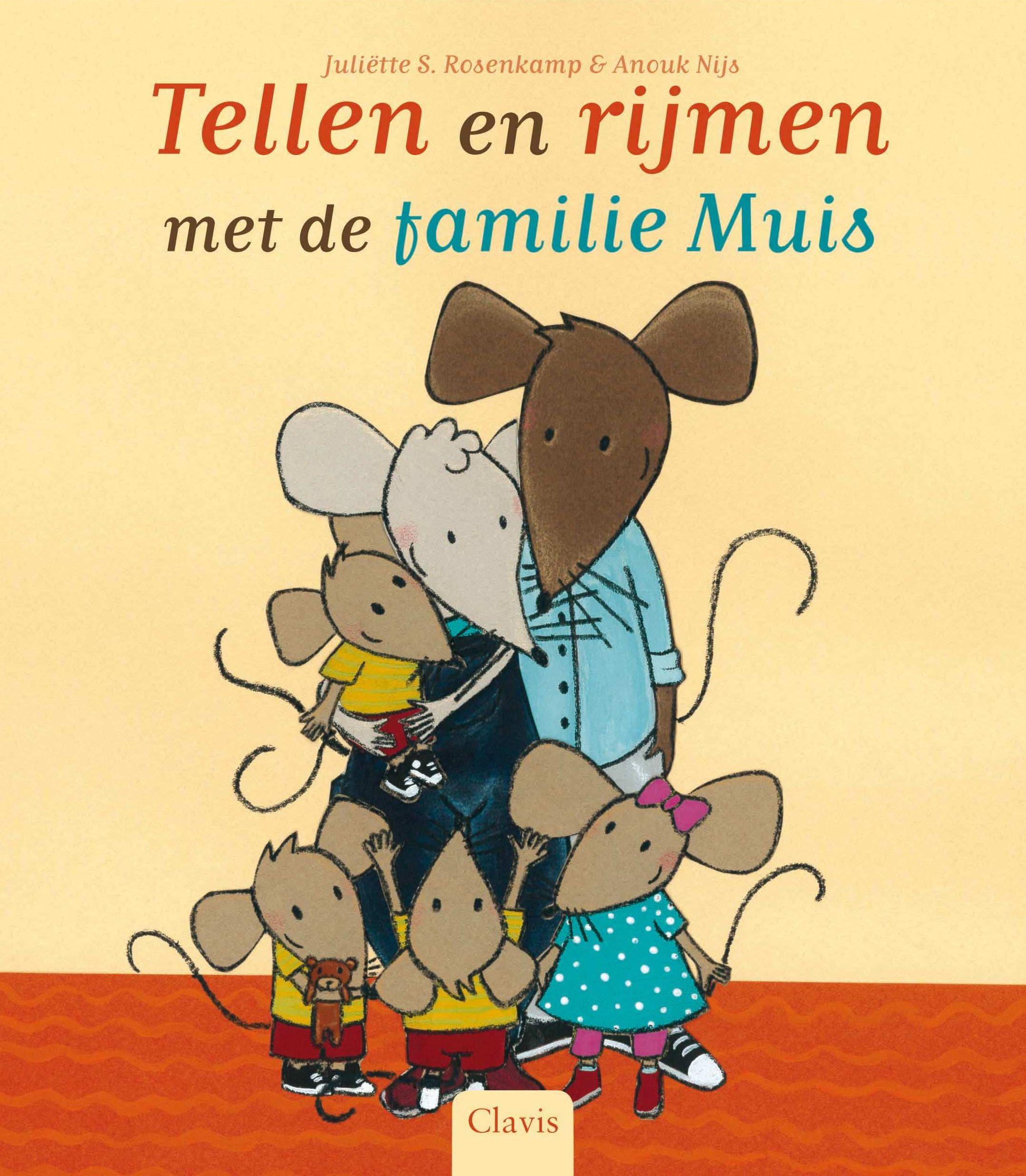 Tellen en rijmen met familie Muis Boek omslag