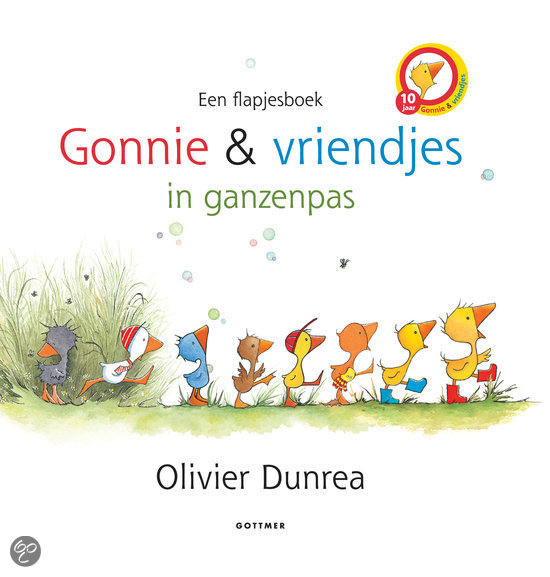 Gonnie & zijn vriendjes in ganzenpas Boek omslag
