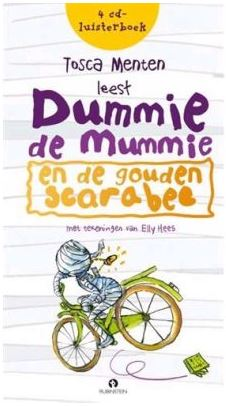 Dummie de Mummie en de gouden scarabee luisterboek Boek omslag