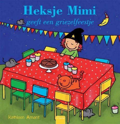 Heksje Mimi geeft een griezelfeestje Boek omslag