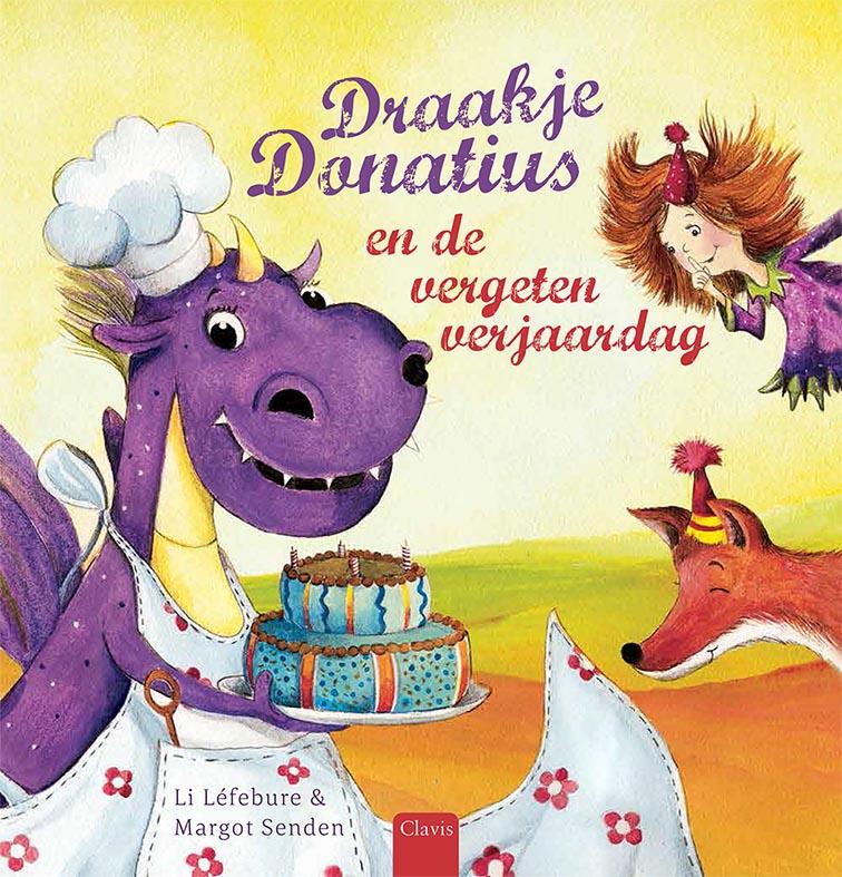 Draakje Donatius en de vergeten verjaardag Boek omslag