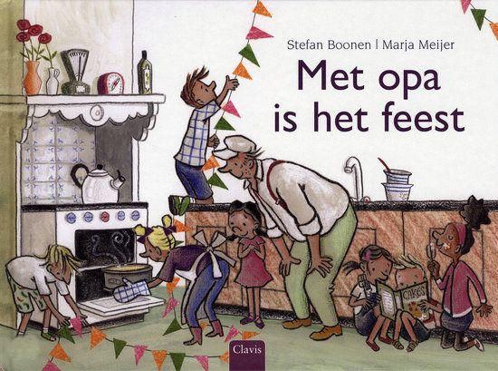 Met opa is het feest Boek omslag