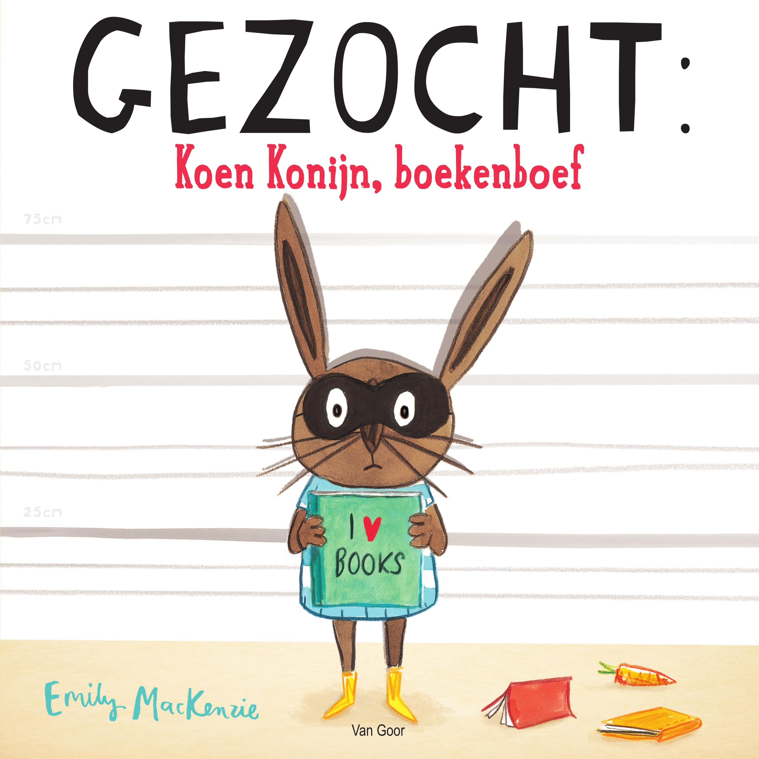 Gezocht: Koen konijn, boekenboef Boek omslag