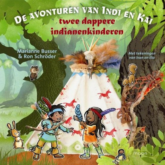 Avonturen van Indi en Kai, twee dappere indianenkinderen Boek omslag