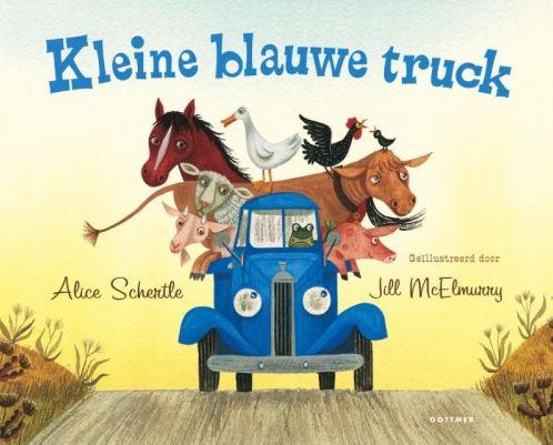 Kleine blauwe truck Boek omslag