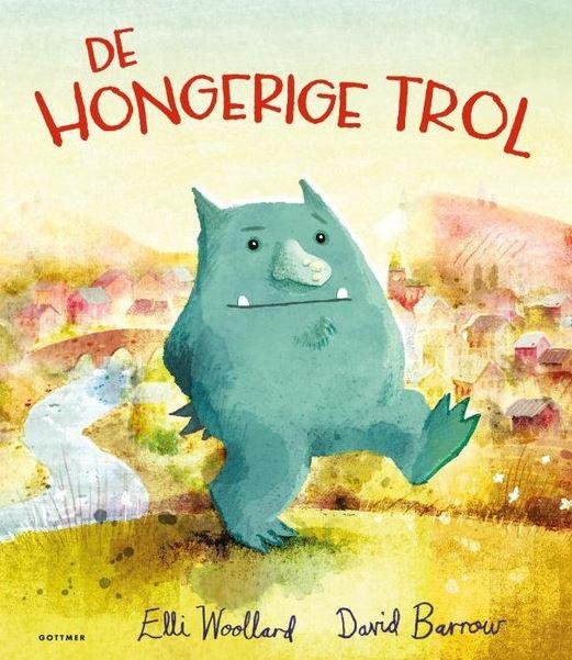 Hongerige trol, de Boek omslag