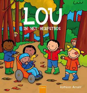 Lou in het herfstbos Boek omslag