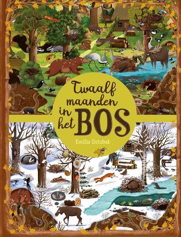 Twaalf maanden in het bos Boek omslag